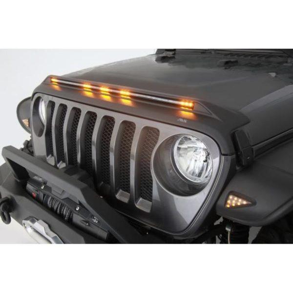 Auto Ventshade 753156 Aeroskin LightShield™ Hood Protector for 2020 Jeep Gladiator, 2018-2020 Jeep Wrangler JL, 2 & 4 Door